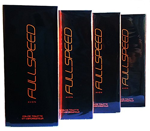 4 x AVON Full Speed For Him Eau de Toilette 75ml - 2.5fl.oz. SET ! Fullspeed