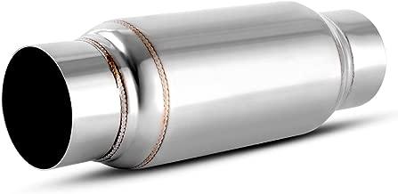 3 Inch Inside Inlet Muffler, AUTOSAVER88 Universal Stainless Steel Welded Exhaust Muffler Deep Sound for Cars, 11.5