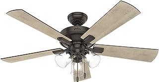 """Hunter Fan Company 54205 Hunter 52"""" Crestfield Ceiling Fan, Noble Bronze"""