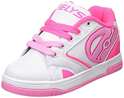 Heelys Propel 2.0 Sneaker, White/Hot Light Pink, 8 M US Big Kid