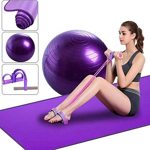GDFEH Esterilla Yoga Alfombras de yoga engrosada explosion a prueba de explosiones a prueba de yoga bola de yoga colchoneta fijador para principiantes antideslizante fitness estera tres piezas yoga su