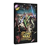 Póster de la serie de animación de Star Wars The Clone Wars temporada 3 de 40 x 60 cm, para decoración de sala de estar, dormitorio, 1 marco