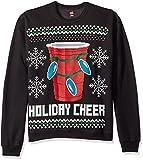 Hanes Men's Ugly Christmas Sweatshirt,Ebony Holiday Cheer,X-Large