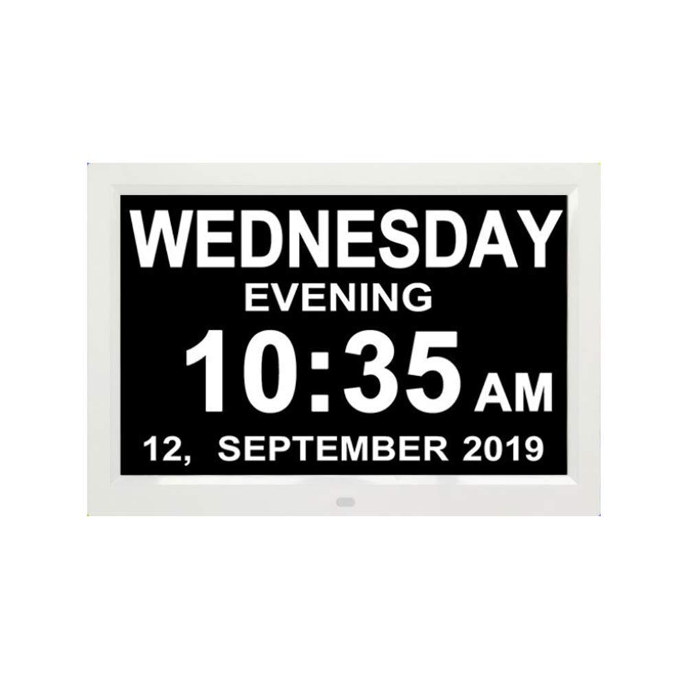 BIlinli 10,1 Pouces 1280x800 Advertising Player 9 Langues Calendrier dhorloge num/érique avec Rappel de Jour de Date