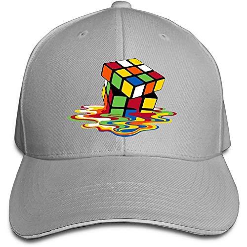 Fantasy Town Geschmolzene Magic Cube Unisex Sandwich Schirmmütze verstellbare Baseballmützen