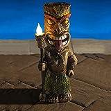 ZLHW Lámpara de jardín con Forma de Escultura, lámpara Decorativa para Exteriores Maya Totem, luz LED de jardín con energía Solar Tiki Guard, para Manualidades de decoración, Escultura de jardinería,