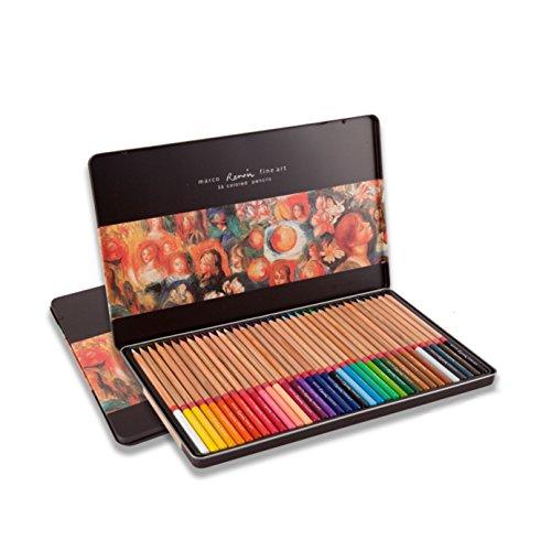 Premier marco Renior Fine Art lápices de colores Set de madera para dibujo/dibujo/Color, Suave Core