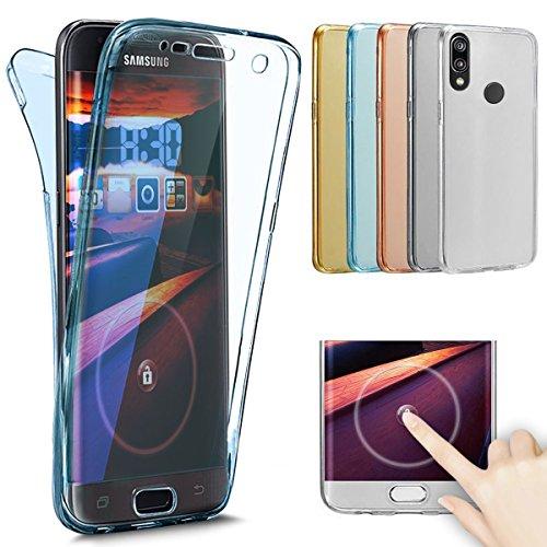 Kompatibel mit Huawei P20 Lite Hülle,Huawei P20 Lite Schutzhülle,Full-Body 360 Grad Klar Durchsichtige TPU Silikon Hülle Handyhülle Tasche Case Front Back Cover Schutzhülle für Huawei P20 Lite,Blau