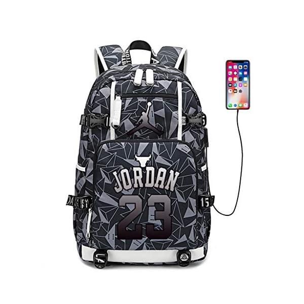 Zpyh Los Aficionados de Baloncesto Michael Jordan, Estrella Luminosa Mochila Mochila Student Travel Bookbag Hombres…