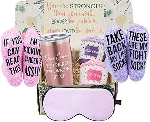 Breast Cancer Survivor Gifts Basket for Women Chemo Survivor Ovarian Breast Cancer Awareness product image