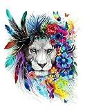 WISKALON DIY Peinture par Numéro Kit,Peindre par Nombre sur Toile pour Adultes Débutant - Lion...