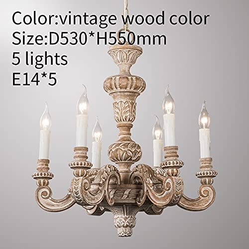 Springhua Roman Pilar Chandeliers de madera tallada luces colgantes italiana murano retro...