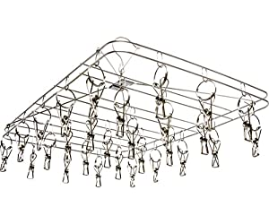 """STACK!T DR28HANG STACKT Hanging Dry Rack w/28 Clips, 13.5"""" x 19.75"""", Silver"""