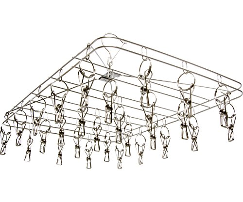 STACK!T DR28HANG STACKT Hanging Dry Rack w/28 Clips, 13.5' x 19.75', Silver