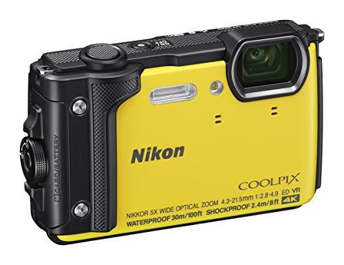 Nikon Coolpix W300 Fotocamera Digitale Compatta, 16 Megapixel, 4K, Subacquea, Antiurto, Antigelo, GPS, GLONASS, Wi-fi, Bluetooth, Giallo [Nital card: 4 anni di garanzia]