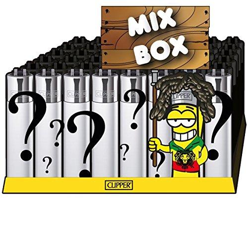 CLIPPER® Feuerzeuge - Mixbox Hanf - 48er Box