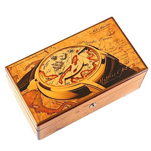 Kejing 木製の腕時計箱、ブレスレット収納ボックス4時計表示箱、秋 (Color : Columbo)
