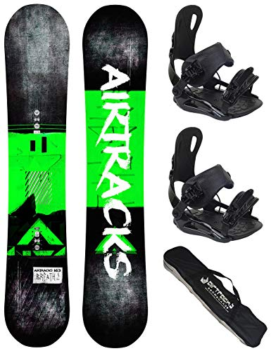 Airtracks Snowboard Set - Board Breath Wide 163 - Softbindung Master XL - SB Bag