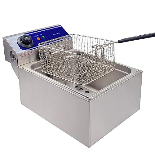 TAIMIKO Electric Deep Fryer 2500W 10L Stainless Steel French Fry Deep Fat Fryer with Basket,Commercial Restaurant,Fast Food Restaurant