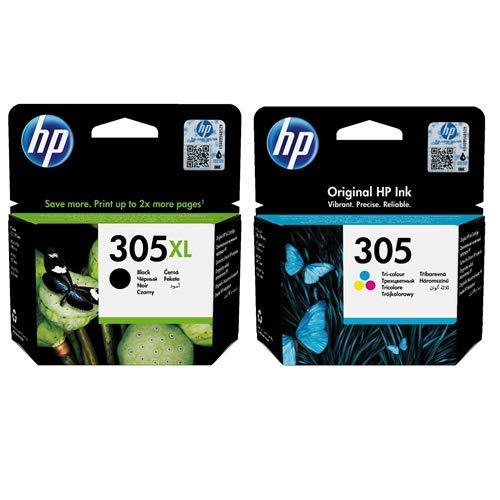 HP 305XL de alta capacidad negro (3YM62AE) y 305 de capacidad estándar color (3YM60AE) multipack