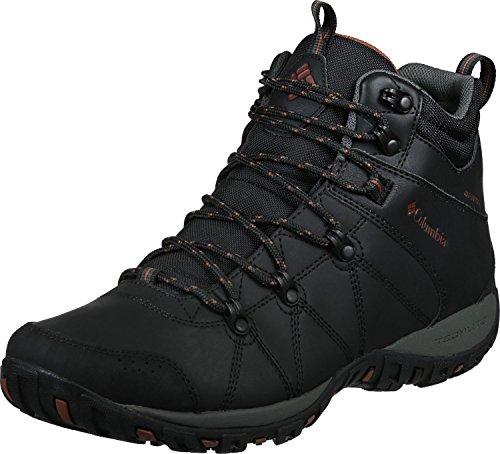Columbia Peakfreak Venture Mid Waterproof Omni-Heat Zapatos para hombre , Negro(Black, Sanguine), 43.5 EU