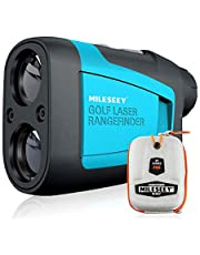 MiLESEEY Professional 600M Golf Afstandsmeter met Hellingcompensatie, ±0,5M Aauwkeurigheid, Vlagvergrendeling, Scan, 6x Vergroting, Afstands/Hoek/Snelheidsmeting Voor Golf, Jacht
