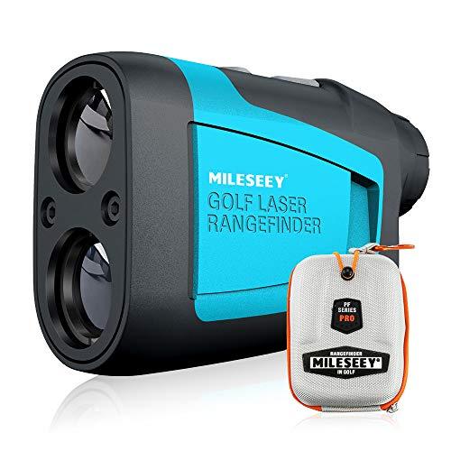MiLESEEY Telemetro Golf 660Yards/600M, Telemetro Laser Golf con Compensazione della Pendenza, Precisione ±0,55yard, Bloccaggio di Pennone,Ingrandimento 6X, Misura Preciso Distanza per Golf, Caccia