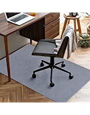 チェアマット 90×140cm 厚み4mm 床保護マット ズレない デスク 椅子 マット 吸音 床傷防止 滑り止 丸洗い可能 グレー