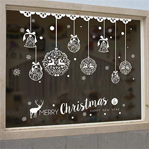 zhuziji Fenster Aufkleber neujahr Frohe Weihnachten haushaltszimmer wandaufkleber wandbild dekor...