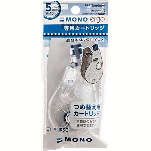 トンボ鉛筆 修正テープ MONO モノエルゴカートリッジ 5mm 5個 CT-YUR5C-5P