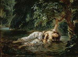 Posterazzi Death of Ophelia 1844 Eugene Delacroix (1798-1863/French) Musee du Louvre Paris Poster Print (18 x 24)