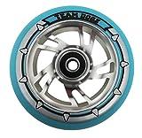 Rueda espiral ABEC 9 88A de poliuretano de Dogz Pro 4, con centro metálico de 100mm, Blue PU Blue Core