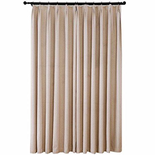 QPGGP Rideaux La Chambre De L'Imitation Pure Rideau De La Fenêtre Du Salon Tissu Tissu,200 x 270CM (W x H)× 2
