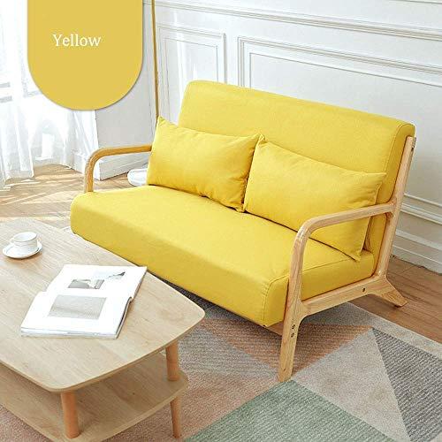 N/Z Home Equipment Sofastuhl Moderne Couch aus weichem Holzgewebe mit Armlehne für Büro-Wohnzimmer-Sessel (Farbe: Gelb Größe: 120x78x75cm)