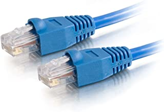C2G 22826 Cat5e كابل - كابل توصيل شبكة إيثرنت غير محمي بدون عناء، متوافق مع TAA، أزرق (20 قدم، 6.09 متر) (صنع في الولايات ...