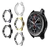 UKCOCO Funda Gear S3 Frontier/Classic, 4 Piezas galvanoplastia Colorida Protector de TPU Suave Reemplazo Protector Caso Marco de la Cubierta para Samsung Gear S3 Frontier/Classic Smartwatch