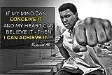 Muhammad Ali Poster Zitat Boxen Schwarz Geschichte Monat