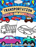 Transportation Toddler Coloring Book Big Jumbo Vehicle Coloring Book for Kids: Easy Fun Coloring Pages of Cars, Trains, Tractors, Trucks, Airplanes, ... for Boys, Girls, Preschool, and Kindergarten