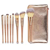 8pcs Cosmetic Brush,Make Up Sets Cosmetic Beauty Tool Set Professional Cosmetic Kit with Cosmetic Bag for Face Eyes Lip
