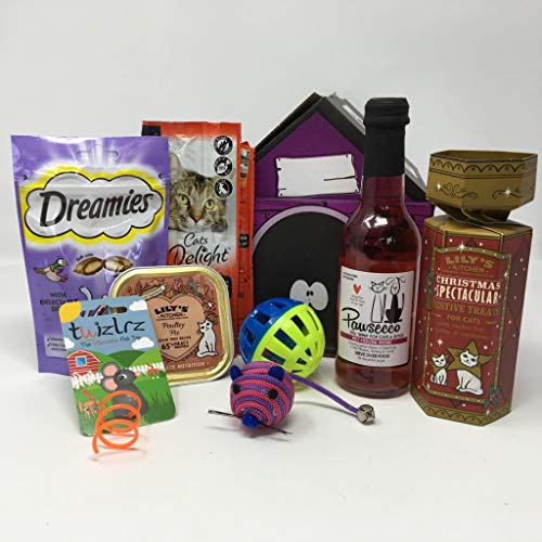 Pet Presents Christmas Toy and Treat Hamper for Cats
