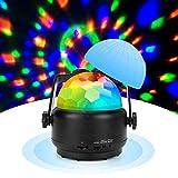 Maxjaa Luces Discoteca, Bola Discoteca con Altavoz Bluetooth y Cable USB, LED Luz de Fiesta Colores RGBW Lámpara de Noche con Mando a Distancia, Iluminacion para Cumpleaños Bodas Navidad