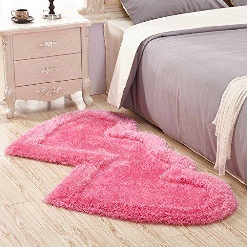 Edge to Teppiche und Decken Doppel herzförmige Strecke Garn Teppich Wohnzimmer Schlafzimmer Dicker rutschfestes Teppichgeschäft für Hochzeitszimmer Nacht Decke (Farbe : C, größe : 70 * 140CM)