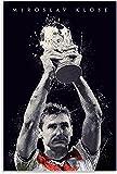 Luck7 Leinwand Druck Poster Miroslav Klose Promi und Bild