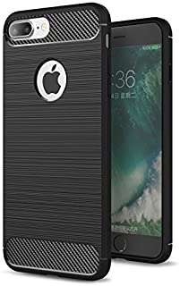 RKINC Case for Apple iPhone 7 8, TPU Cover Ultra Thin, Lightweight Carbon Fiber design Flexible Bumper Rubber Protective Case for Apple iPhone 7 8, Black