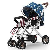 Cochecito de bebé Cochecito cochecitos de niño plegables ligeros del bebé for los niños portátil de mentira de niñera cochecito for el tranvía Recorrido al aire libre Uso sillas de paseo ( Color : A )