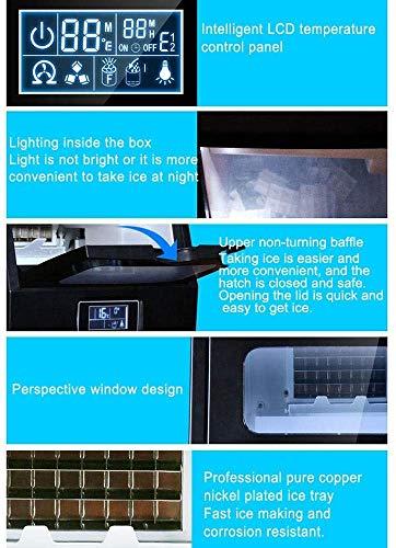 51HjI23KpAL - HIZLJJ Eiswürfelmaschinen, Kommerzielle Eismaschine, 88LBS / 24h freistehende bewegliche Edelstahl-EIS-Hersteller-Maschine unter Gegen Eismaschine for Restaurants Bars