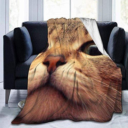 Manta Suave y cálida Manta de poliéster para Todas Las Estaciones Modo Elegante unik designstil Ahdyr Cute Animal Cat Fleece Blanket Throw Blanket ffy Soft Plush for Couch Bed Sofa Black