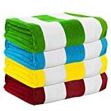 Exclusivo Mezcla 4-Pack 100% Cotton Cabana Striped...