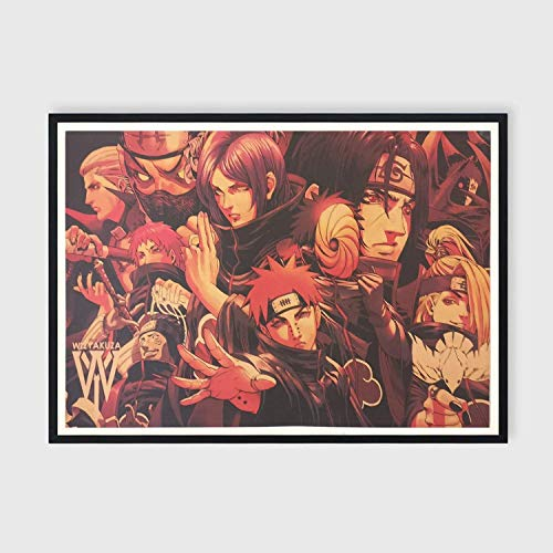 New Naruto Wall Posters- Anime Wall Art for Bedroom, Akatsuki Poster for Bedroom (20in x 14in) (NO FRAME)
