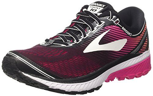 Brooks Ghost 10, Zapatillas de Running para Mujer, Multicolor (Blackpinkpeacocklivingcoral 1b067), 37.5 EU
